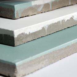 carreaux de ciment vert et blanc unis
