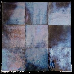 Carrelage zellige bleu irisé