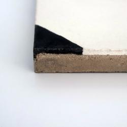 cabochon carreaux de ciment noir et blanc