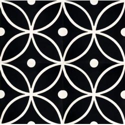 Tapis carreaux ciment noir et blanc