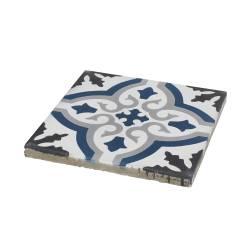 carreaux de ciment bleu et blanc