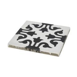 Dalle carreaux de ciment noir et blanc motif