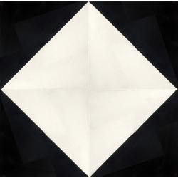 carreaux de ciment noir et blanc damier