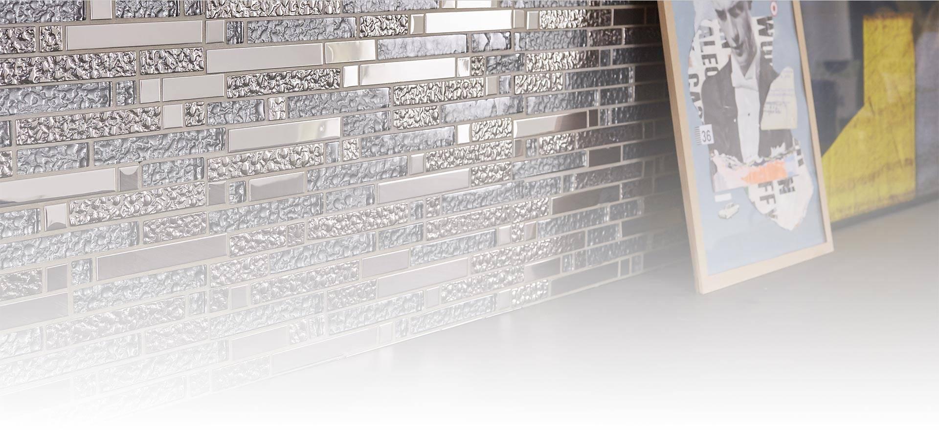 Plaque mosaïque à coller pour murs intérieurs